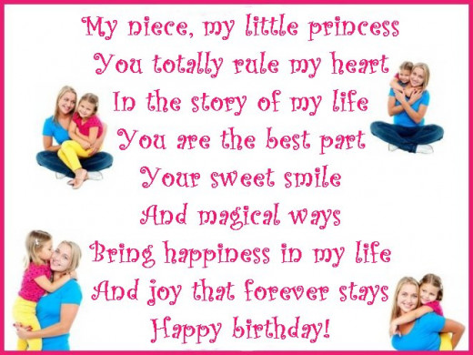 Happy Birthday My Niece Poem