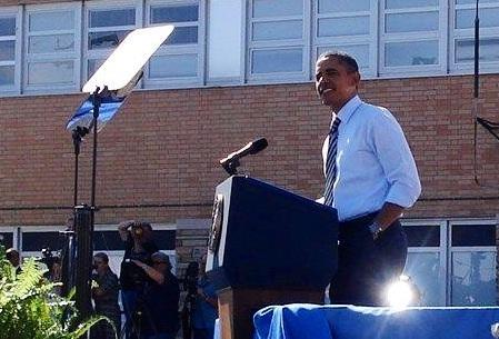 President Obama in Denver, CO.