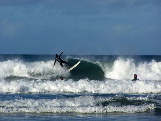 Newquay Beaches, Cornwall: Fistral Beach is where you will find top surfers and surfing contests