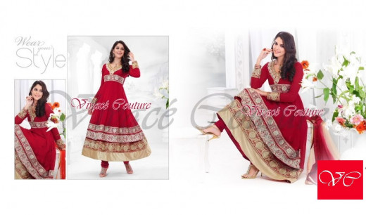 Gorgeous Red salwar kameez suit for a new bride