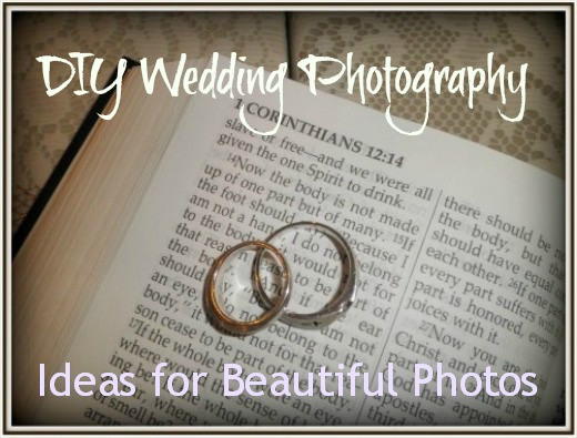 Do it yourself wedding photos. DIY pictures save you money! Great tips and advice on how to capture those special wedding moments.