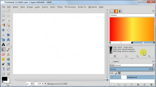 Fig 4  Create custom gradients in GIMP 2.8