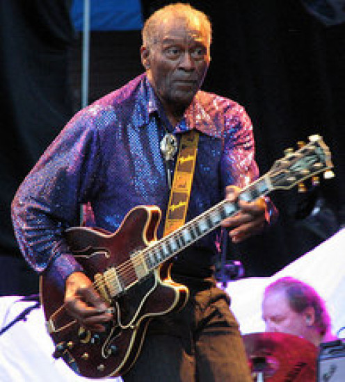 Even in his older years Chuck Berry could rock out his hits with dancing and guitar playing. He was truly a classic.