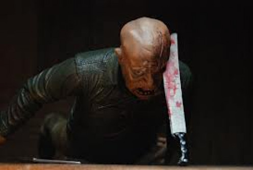 Friday the 13th 4: The Final Chapter had Corey Feldman slice a Machete into Jason's brain to put a stop or chop to Jason.