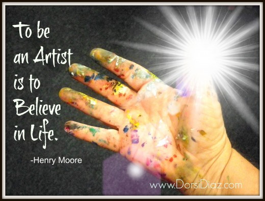 A photo of my hand that I took one day, added some special effects with text and made into a Made For Pinterest image (MFP)