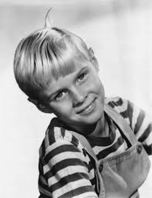 The all American boy in his striped T-shirt - Dennis the Menace