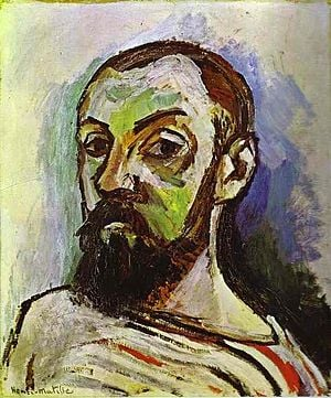 """Self-portait in a Striped T-shirt"" by Henry Matisse. 1906"