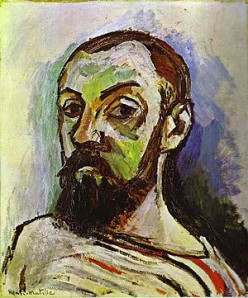 """""""Self-portait in a Striped T-shirt"""" by Henry Matisse. 1906"""