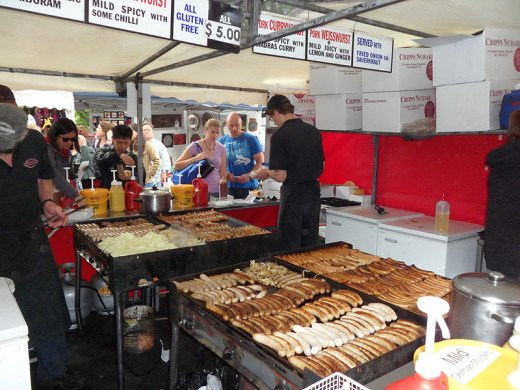 Food Stall at Salamanca Market