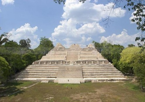 Belize is known for its massive Mayan ruins. Yes, those small dots are people.