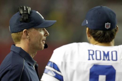 Jason Garrett and Tony Romo