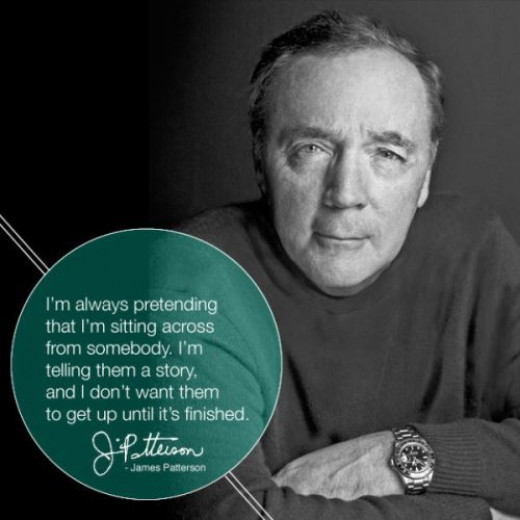 James Patterson quote about writing