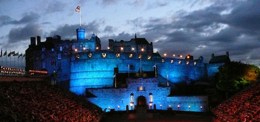 Edinburgh Castle during the military tattoo - its not known if the many ghosts also enjoy this annual spectacle?