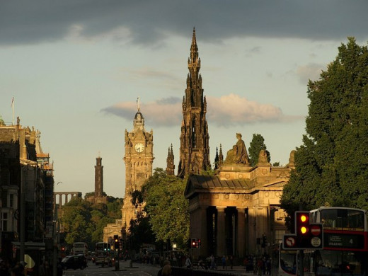 Edinburgh, the capital of Scotland and one of the world's most haunted cities.