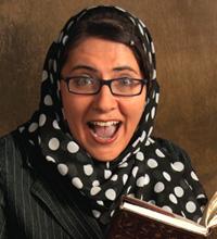 Mohja Kahf; the author