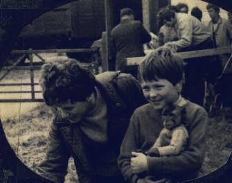 Hub's author and his Aunty Kathy at Maidstone Market...probably around 1968