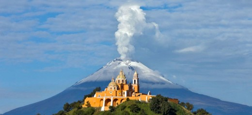 I am sure that this church built upon a Aztec pyramid is offensive to some. But all things like to reach to the sky.
