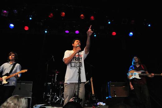 Performing at Williamsburg, Brooklyn