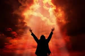 Taking position by praying in the spirit under an opened heaven