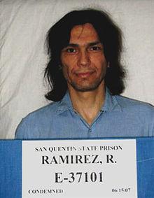 Booking photo for Richard Ramirez at  San Quentin State Prison, California