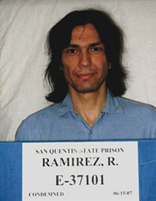 Booking photo for Richard Ramirez at  San Quentin State Prison, California