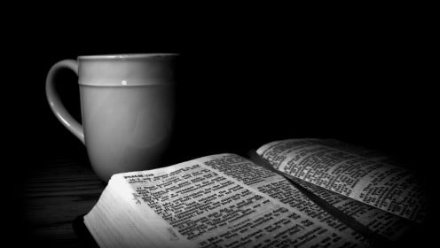 Start your morning with coffee and the psalms.