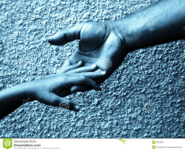 Hands are meant to touch each other.