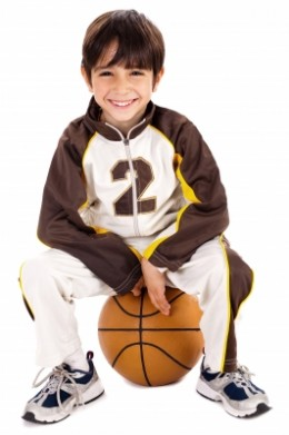 This is a good use for a basketball. DOn't let your kids breathe too hard because that produces a greenhouse gas.