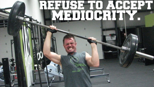 Motivational Quotes For Exercise/Workout.  (Weightlifting) - Refuse to accept mediocrity