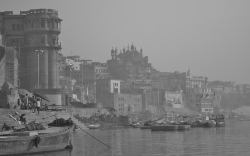 In Varanasi at sunrise