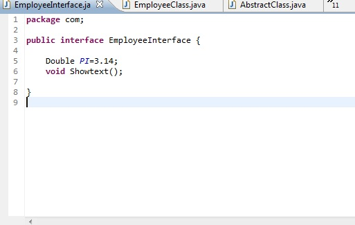 Interface In Java is similar to abstract class but it has some difference