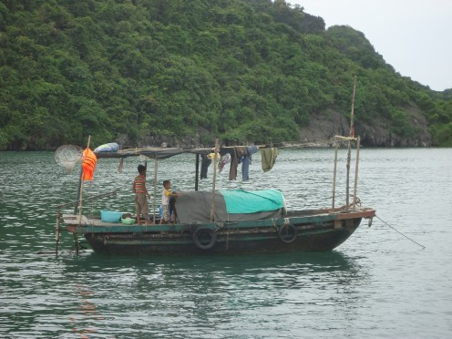 A spot of fishing at Ha Long Bay
