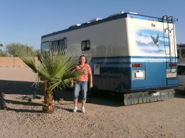 The latest motorhome, a Safari Trek