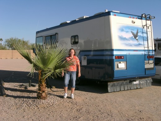 The latest motorhome, a Safari Trek