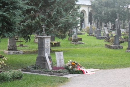 The grave at St Peter's Salzburg of the Mozart family.