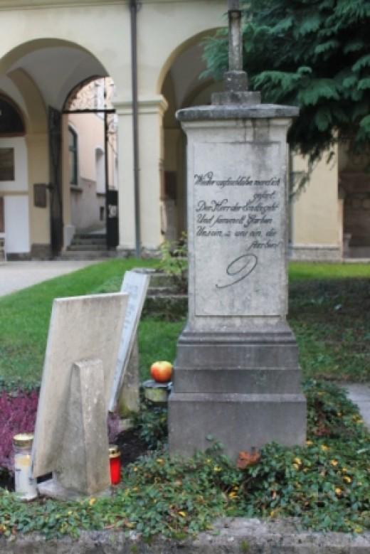 Mozart family grave, Salzburg, Austria.