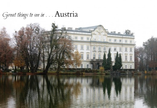The palace by the lake in Salzburg used for the 'back yard' in The Sound of Music where Maria and the children fell out of the boat.