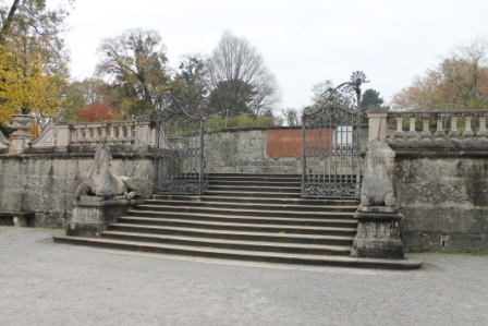 The steps in Mirabella Gardens in central Salzburg where Maria and the children sang 'Do Re Mi'.