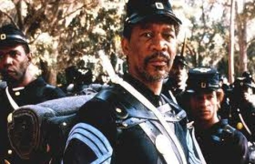 Morgan Freeman starred with Mathew Broderick and Denzel Washington in Glory.