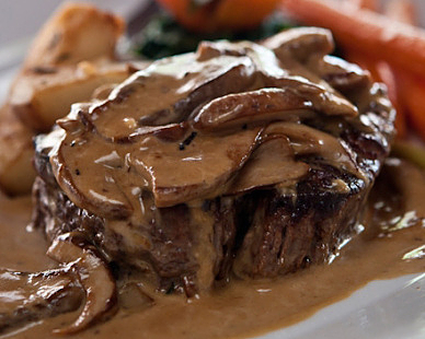 Beautifully cooked Steak Diane