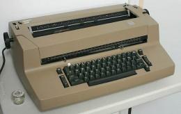 Beige selectric typewriter