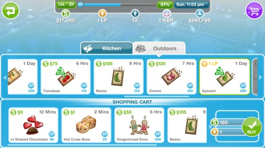 Adding Items to the SIMS FreePlay Supermarket Basket