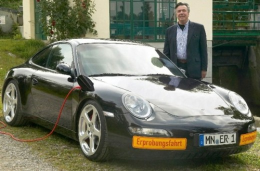 A Porsche 997 converted to electric by RUF