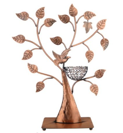 Bronze jewelry / earring tree