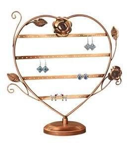 Heart shaped earring stand