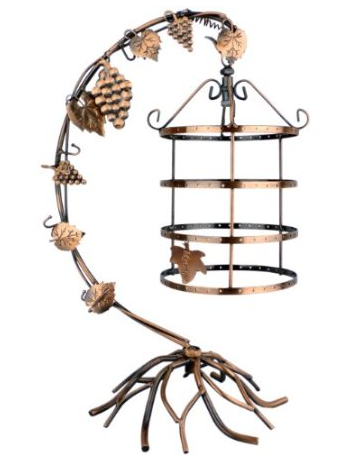 Bird cage earring tree