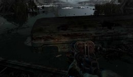 Metro Last Light Road for Two Mission. Jump from one bus to the other without falling into the water.