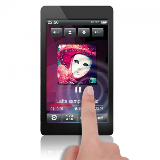 Latte Espresso 16 GB Video MP3 Player with Haptic G-Sensor and Touchscreen