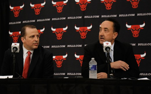 Tom Thibodeau and Gar Forman