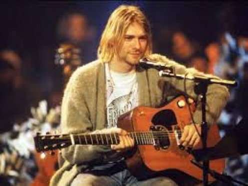 Kurt Cobain was the lead singer for Nirvana and a great young talent. His album called Smells Like Teen Spirit is a musical masterpiece.